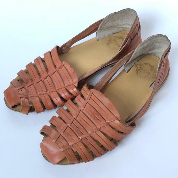 9a262baaefcd5 Leather Huarache Sandal
